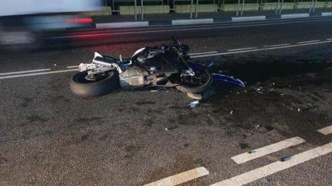 Мотоциклист пострадал в ДТП под Геленджиком