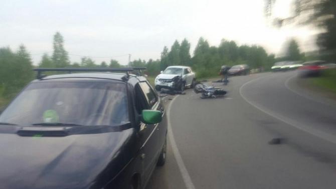 Супруги на мотоцикле погибли в ДТП под Челябинском