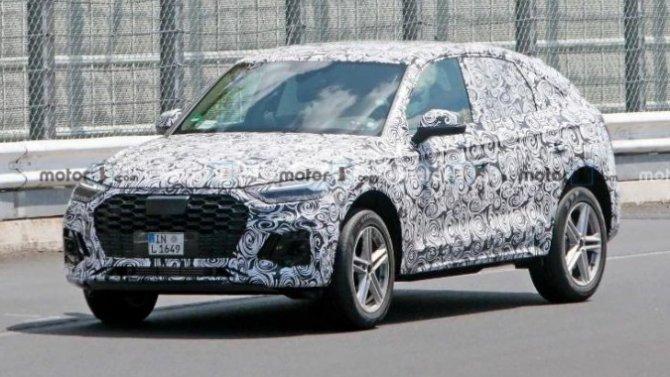 Начались испытания купеобразного Audi Q5 Sportback