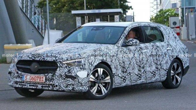 Начались испытания обновлённого универсала Mercedes-Benz C-Klasse