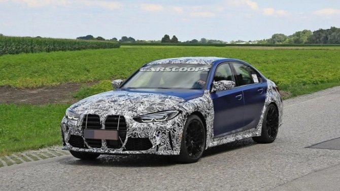 Новый BMW M3 постепенно лишается камуфляжа