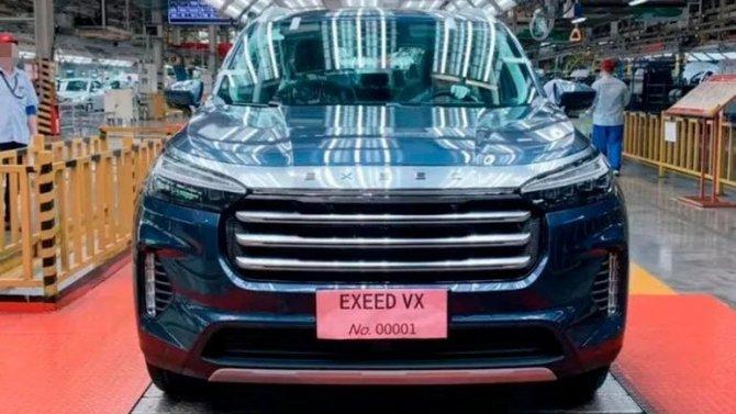 Фирма Chery начала производство кроссовера Exeed VX