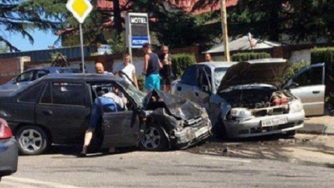 Двое детей пострадали в ДТП в Ялте