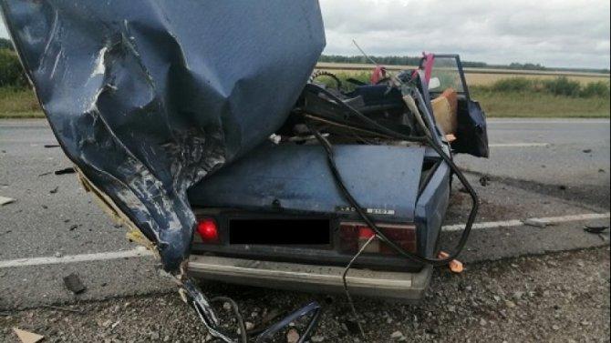 Два человека погибли в ДТП с грузовиком в Омской области