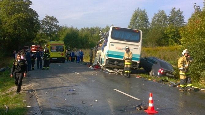 Под Калининградом столкнулись автобус игрузовик— семеро погибших, втом числе ребёнок
