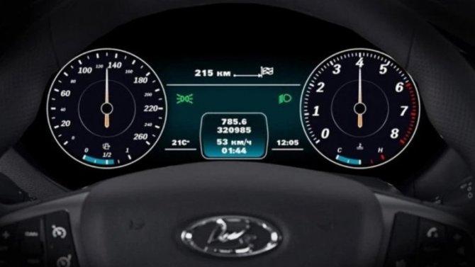 Две модели Lada получили цифровые «приборки»