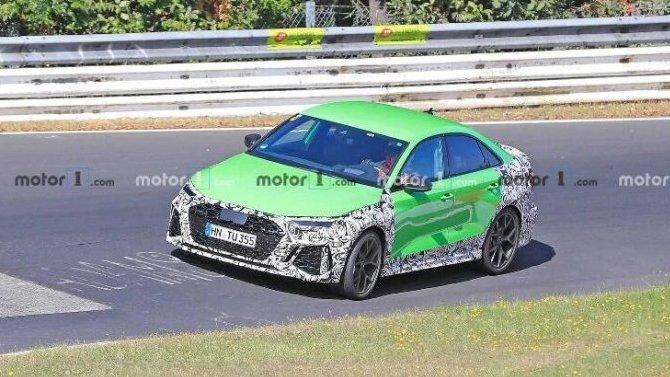 На «Нюрбургринге» появился обновлённый спорт-седан Audi RS3