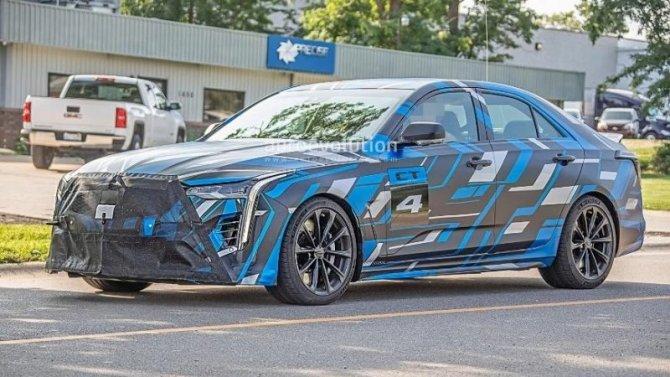 Начались испытания нового спорт-седана Cadillac CT5-V Blackwing