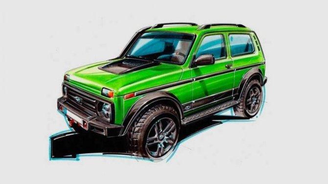 ВГермании выпустят «юбилейную» Lada 4×4
