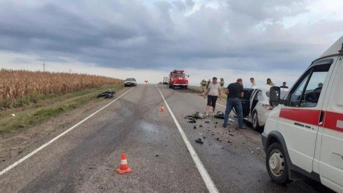 В ДТП на Кубани погиб мотоциклист