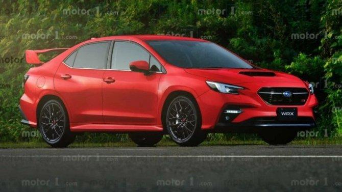 Появились изображения нового седана Subaru WRX