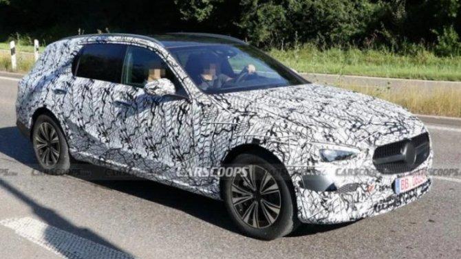 Начались испытания универсала Mercedes-Benz C-Кlassе нового поколения