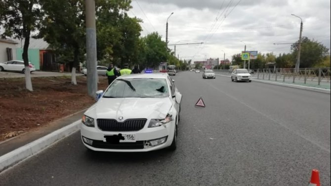 В Оренбурге на переходе насмерть сбили пешехода