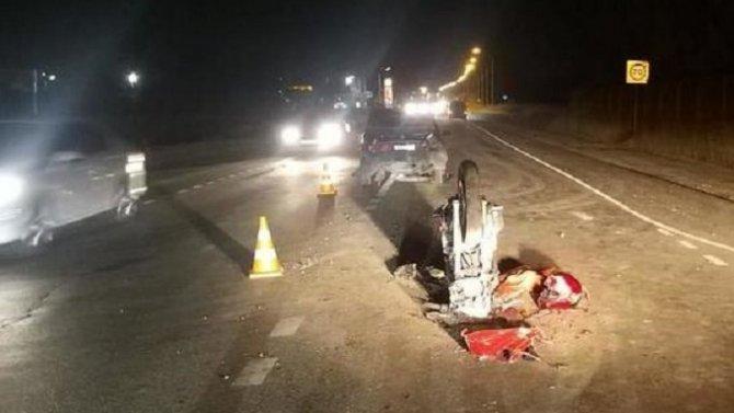 Мотоциклист пострадал в ДТП в Тульской области