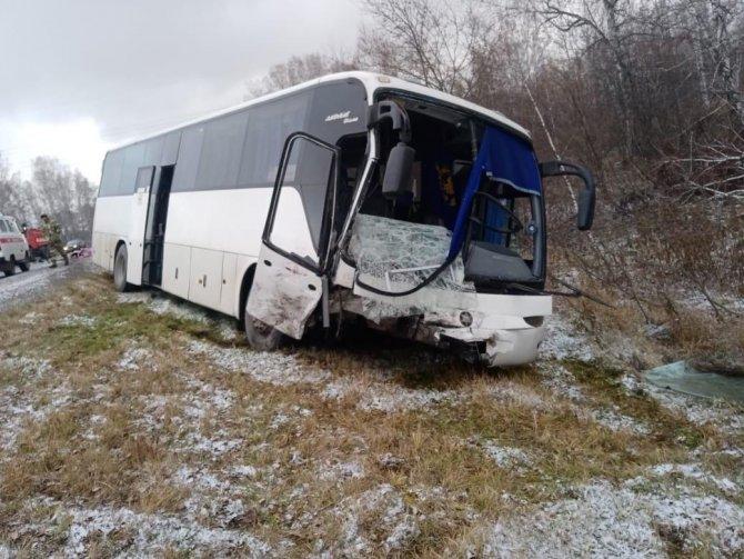 ДТП с автобусом в Новосибирской области