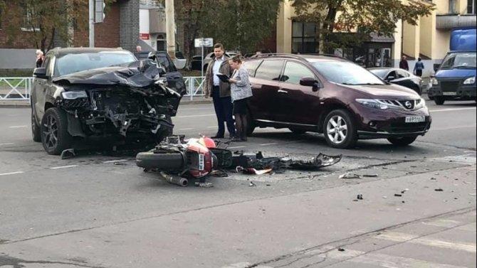 Мотоциклист пострадал в ДТП в Рыбинске