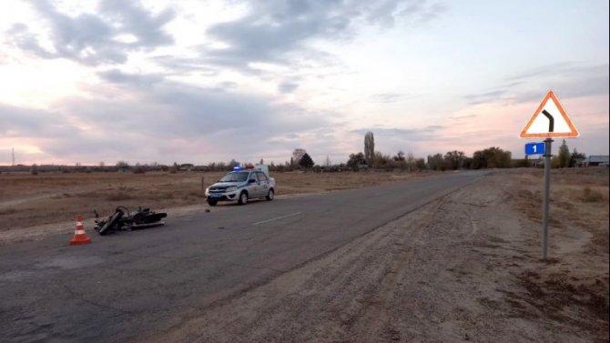 В Астраханской области в ДТП пострадал 15-летний мотоциклист