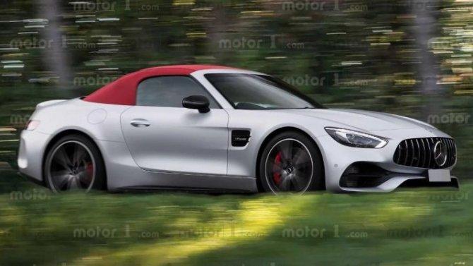 В интернете показаны рендеры нового Mercedes-AMG SL