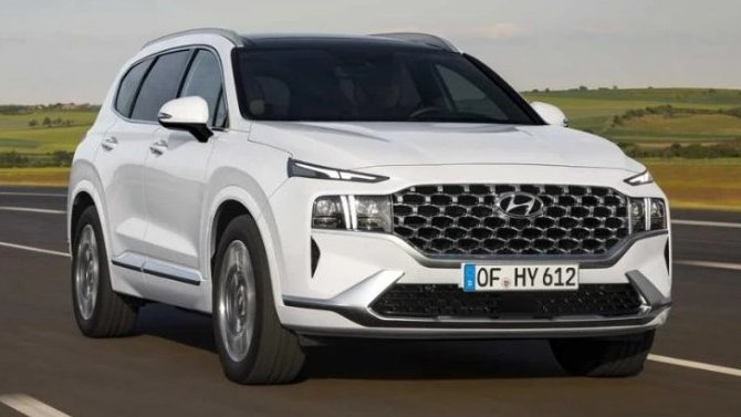 Hyundai Santa Feполучит гибридный силовой агрегат