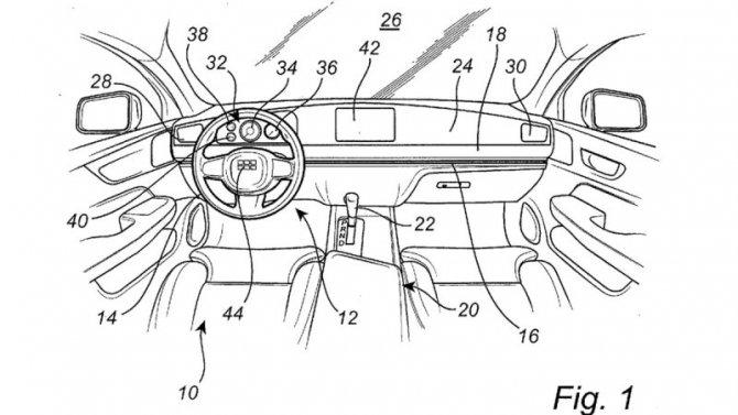 ВVolvo создали перемещающийся попередней панели руль