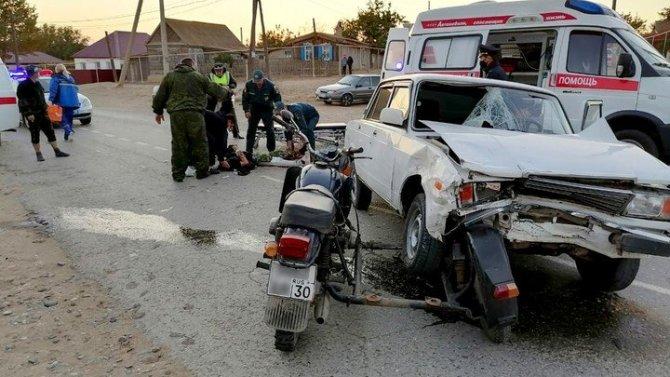 Под Астраханью два человека пострадали в ДТП по вине пьяного водителя