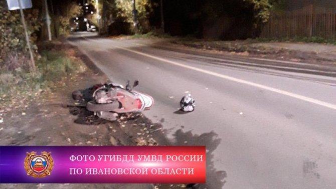 Пьяный водитель мопеда пострадал в ДТП в Иванове