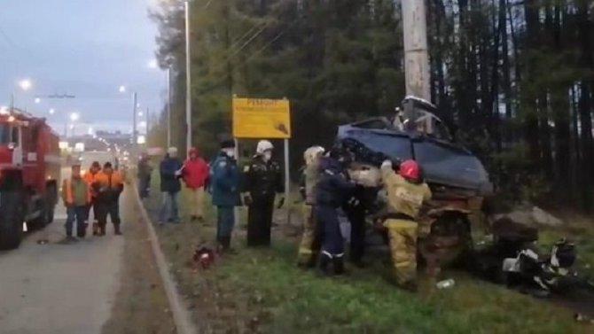 В Ивановской области BMW врезалась в столб – погибли пять человек