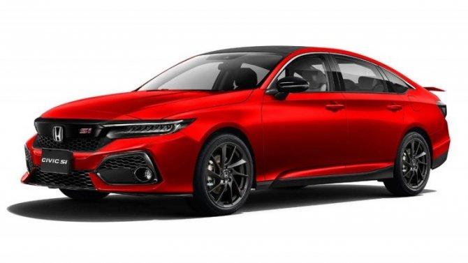 Опубликованы рендеры нового Honda Civic Si