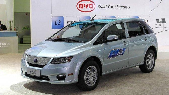Выпуск электромобиля BYD e6 будет возобновлён