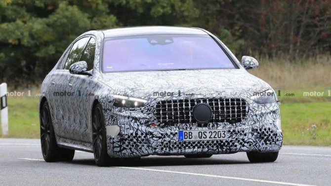Начались испытания гибридного Mercedes-AMG S63e
