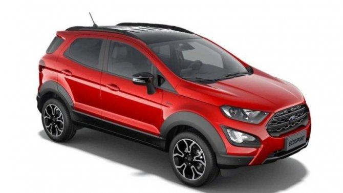 Опубликованы изображения кроссовера Ford EcoSport Active