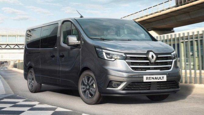Представлен рестайлинговый микроавтобус Renault Trafic