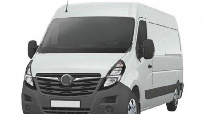 ВРоссии запатентован фургон Opel Movano