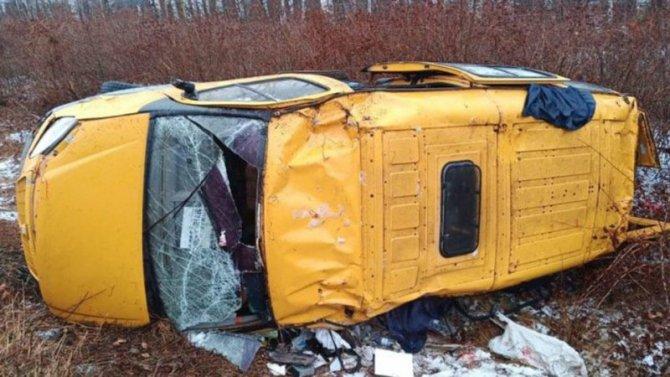 В Тамбовской области опрокинулась маршрутка – погиб человек