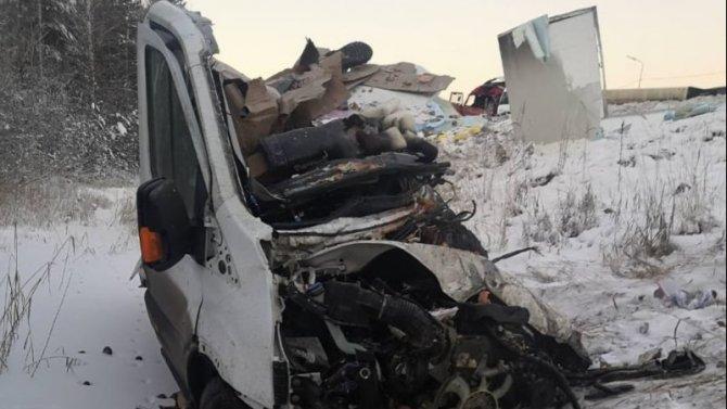 В ДТП с грузовиками в Тюменской области погиб человек