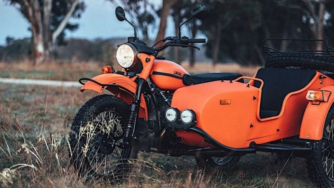 Мотоцикл «Урал» получил «праворульное» исполнение