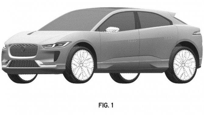 Опубликованы патентные изображения нового Jaguar I-Pace
