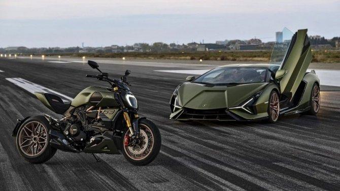 Ducati Diavel мимикрирует под Lamborghini
