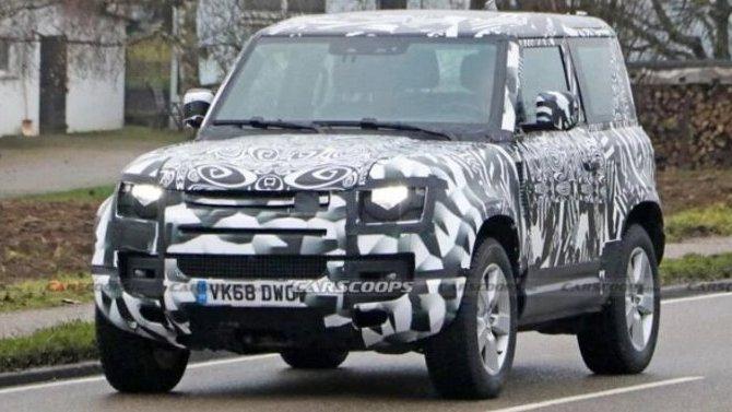 Натесты выехал укороченный Land Rover Defender сV8