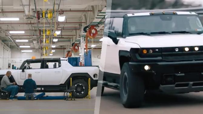 Новый электрический пикап Hummer EV показан на видео