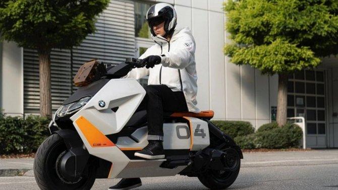 Фирма BMW представила прототип электроскутера
