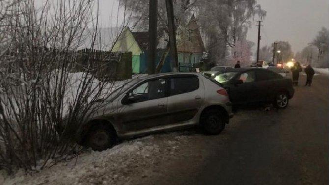 В ДТП в Клинцовском районе пострадали девушка и ребенок