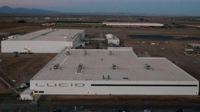 Фирма Lucid заканчивает строительство своего нового завода