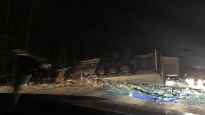 В ДТП в Тихвинском районе Ленобласти погиб водитель грузовика