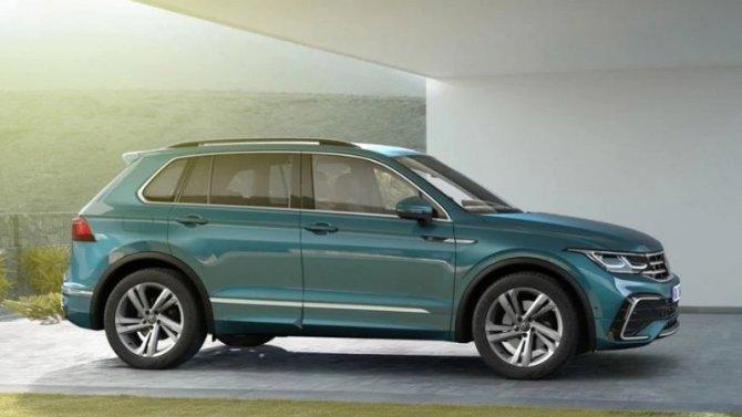 Начались российские продажи обновлённого Volkswagen Tiguan