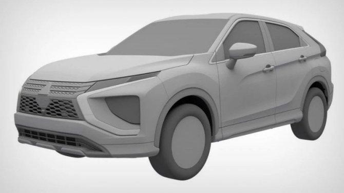 ВРоссии запатентован новый Mitsubishi Eclipse Cross