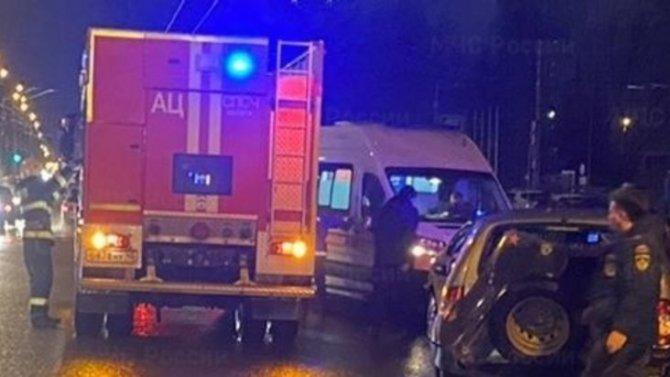 Сразу 3 машины столкнулись в Калуге на улице Московской