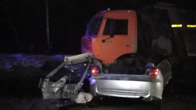 При столкновении сКАМАЗом погиб водитель легкового автомобиля