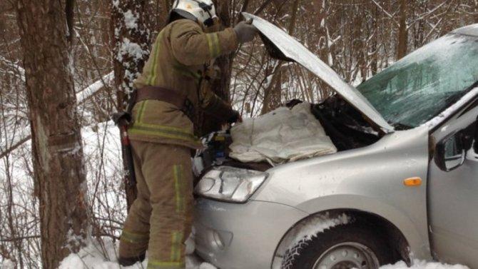 Врезалась в дерево, разбила машину, покалечила пассажирку – полный набор