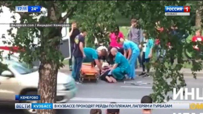 MAN поймал вКемерове пенсионерку нанерегулируемом пешеходном переходе
